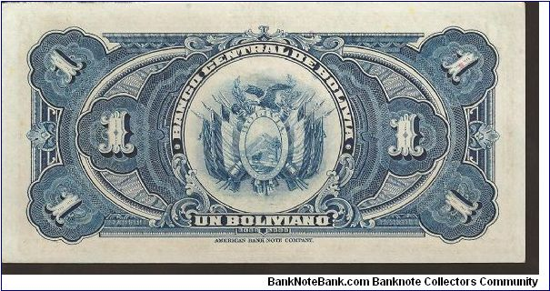 Banknote from Bolivia year 1928
