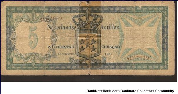 Banknote from Netherlands Antilles year 1967