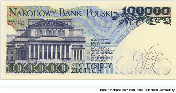 Banknote from Poland year 1990