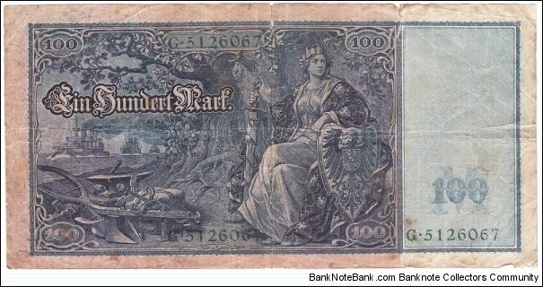 Banknote from Germany year 1910