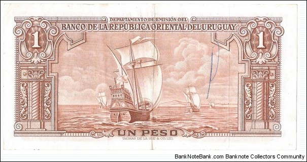 Banknote from Uruguay year 1939