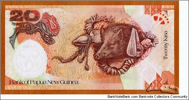 Banknote from Papua New Guinea year 2008