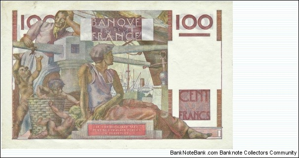 Banknote from France year 1952