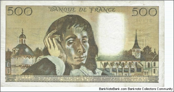 Banknote from France year 1981