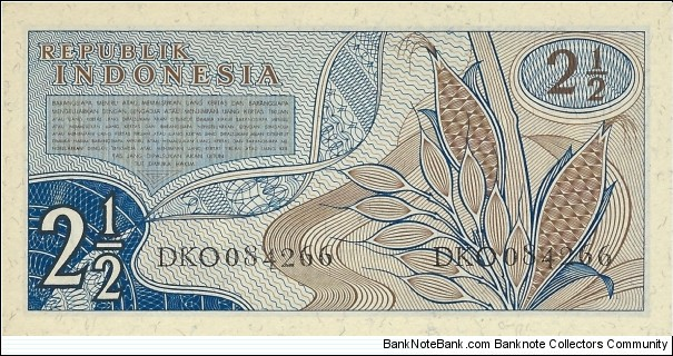 Banknote from Indonesia year 1961