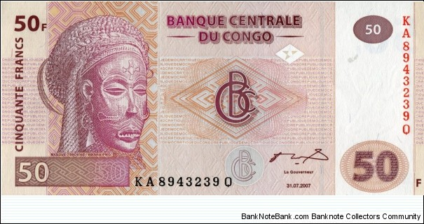 50 FC - Congolese franc Banknote