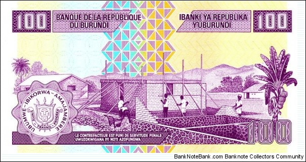 Banknote from Burundi year 2010