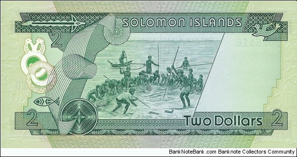 Banknote from Solomon Islands year 1977