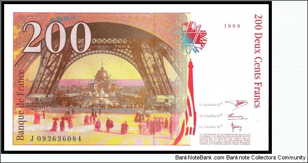 Banknote from France year 1999