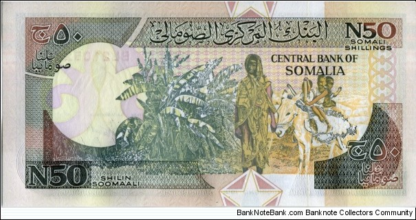 Banknote from Somalia year 1991