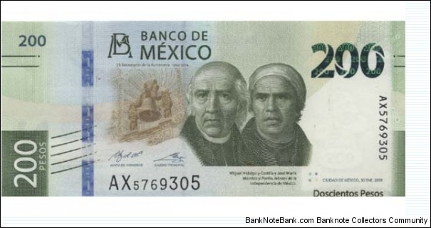 Banknote from Mexico year 2019