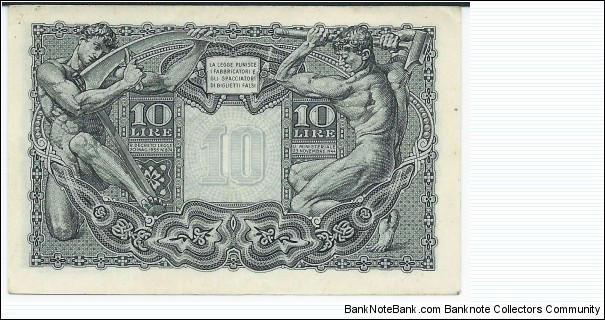 Banknote from Italy year 1944