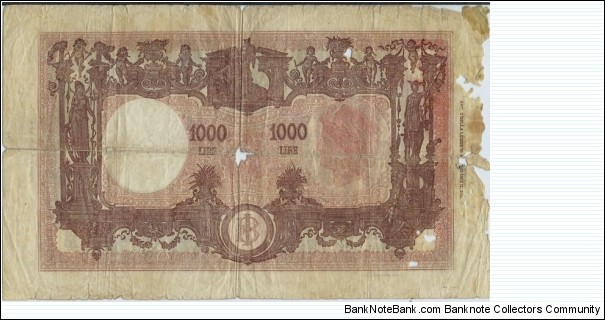 Banknote from Italy year 1945