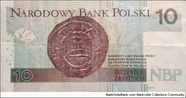 Banknote from Poland year 2012