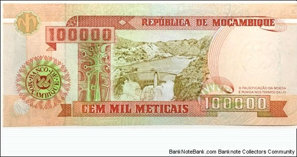 Banknote from Mozambique year 1993