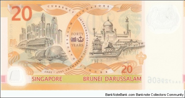 Banknote from Singapore year 2007