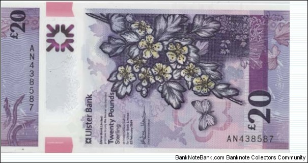 Northern Ireland 20 Pounds  Banknote