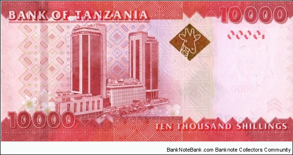 Banknote from Tanzania year 2010