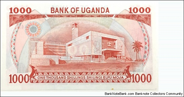 Banknote from Uganda year 1986